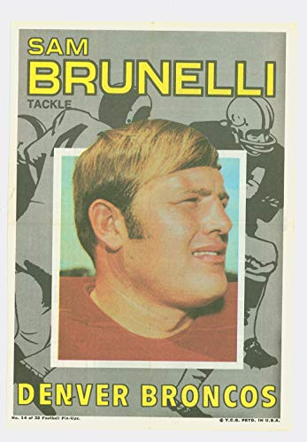 (1971 Topps Football Pin-Ups 14 Sam Brunelli Boston Patriots Excellent to Mint)