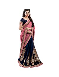 Delisa Fashion Indian/Pakistani Women Designer Party wear Saree Sari ZL1018 Blue