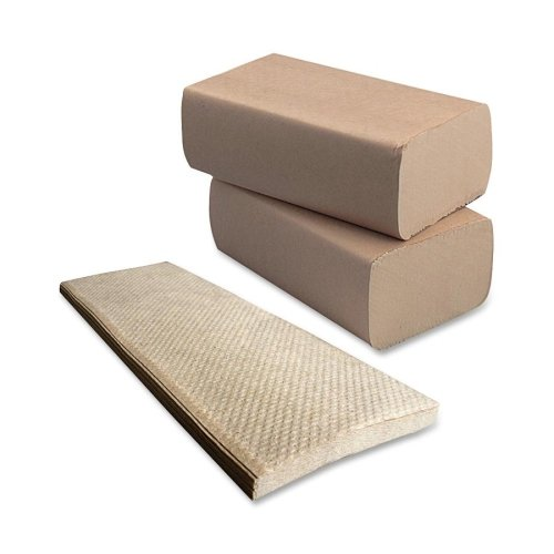 Heavenly Soft 410163 Multifold Towel - Natural - 1 Ply - 4000 - 1 Ply - 4000 Towel - 16 / Carton - 9.25'' x 9.50'' - Natural - Fiber