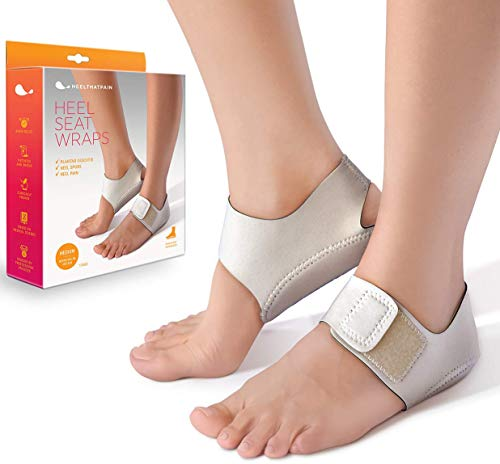 Heel That Pain Heel Seat Wraps for Plantar Fasciitis and Heel Spurs - Perfect for Heel Pain Relief While Barefoot or with Sandals | Patented, Clinically Proven, 100% Guaranteed (Medium) (Best Shoes For Heel Spur Pain)