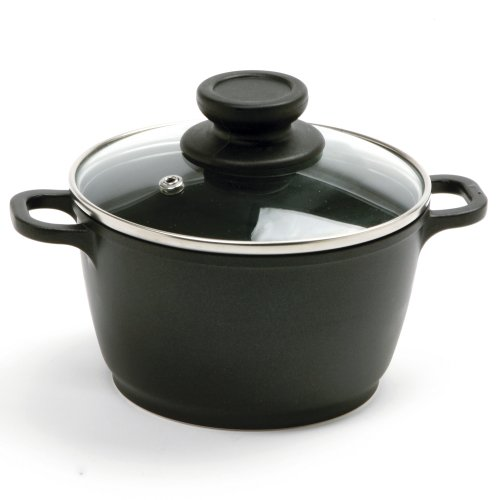 Norpro 1 Quart Nonstick Mini Pot with Vented, Tempered Glass Lid