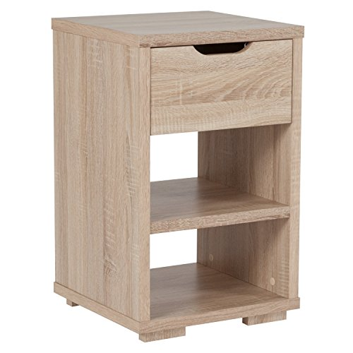 Laminate Occasional End Table - Flash Furniture Howell Collection End Table with Storage Drawer in Sonoma Oak Wood Grain Finish
