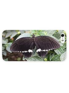 3d Full Wrap Case For Ipod Touch 5 Cover Animal Black Butterfly On The Leaf