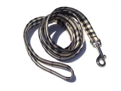 Dog Leash: Burberry, 5 Foot by Three Boys of Scottsdale Pet Boutique