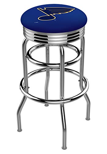 Holland Bar Stool NHL L7C3C St Louis Blues Swivel Counter Stool, 25