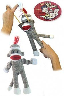 Flying Sock Monkey Tarzan Screams-Sock Monkeys -1x pcs