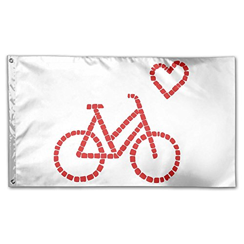 Homlife 59 X 35 Inch Garden Flag Bike Lover Fan Gift Decorative Colorful Yard Flags Indoor&Outdoor Home Fall Flags Holiday Decor