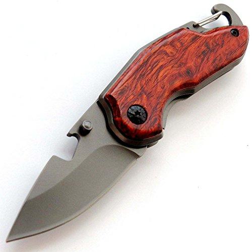 Eafengrow EF17 Folding Pocket Knife Wood Handle 7Cr13Mov Steel Blade Pocket Hunting Knife Outdoor EDC Tool Camping Knives by Eafengrow (Image #8)