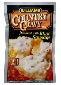 Williams Country Gravy Flavored with Real Sausage, 2.5 oz.