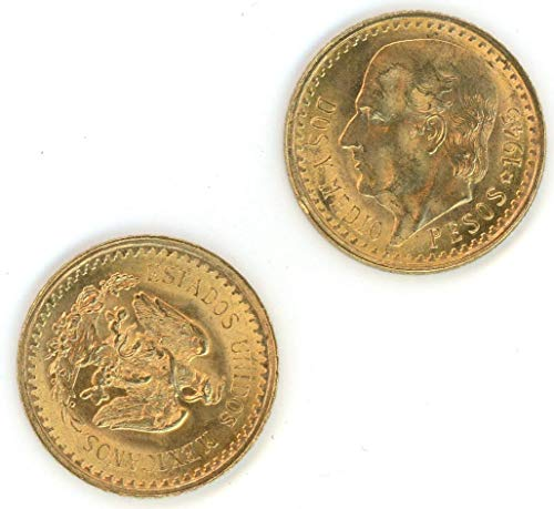 (1945 MX 2 1/2 Pesos Mexican Gold Coin 2.5 Pesos BU)