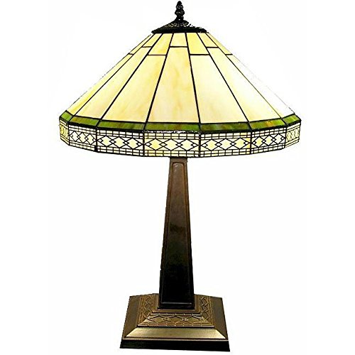 Whse of Tiffany F16257 Tiffany-Style Roman Table Lamp For Sale