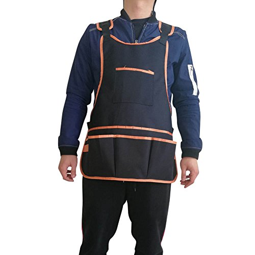 Waterproof Canvas Workshop Tool Apron with Pockets Fully Adjustable Multi-Purpose Multitools Protective Garden Apron Both for Men Women HSW-090-US by Hersent