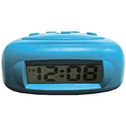 Advance 0.5 Lcd Bedside Alarm Clock - Blue