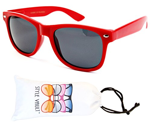 W113-vp Style Vault 80s Wayfarer Sunglasses (S1962V Red-Dark, - Style 80s Glasses