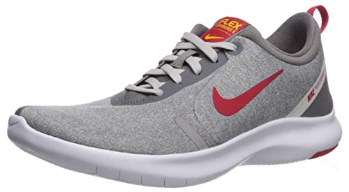 Nike Men's Flex Experience Run 8 Shoe, Gun Smoke/University red - vast Grey, 10 Regular US