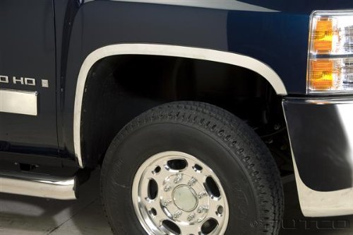 2013 Fender Trim - Putco 97289 Stainless Steel Full Fender Trim Kit for Chevrolet Silverado