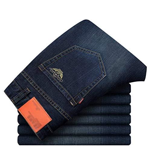 Ragazzo Denim Slim Gamba Lavati Jeans Dritti Uomo Pantaloni Blaublack Business A Fit Dritta pRaOpYwqx