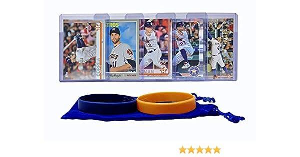Jose Altuve Collin McHugh ASSORTED Trading Card and Wristbands Bundle Houston Astros Baseball Cards: George Springer Carlos Correa Alex Bregman