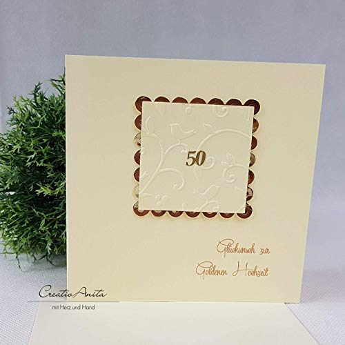 Glückwunschkarte Goldene Hochzeit50 Amazonde Handmade