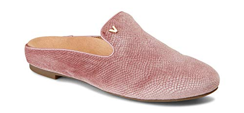 Vionic Women's Snug Carnegie Holiday Mule - Ladies Slip-on with Concealed Orthotic Arch Support Blush 7 M US