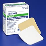 Covidien Foam Dressing Film Backing Hydrophilic Foam, 4 X 4 Inch,50 Per Case