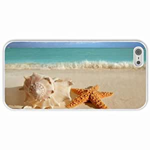 Apple iphone 6 4.7 Cases Customized Gifts Shells Starfish Sea Ocean Waves Water White Hard PC Case