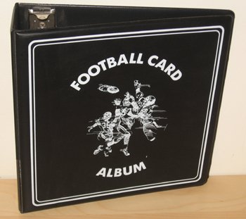 1 (One) Black Binder BCW 3 Inch D Ring NFL Football Trading Cards Collection Album