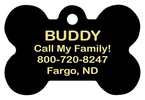 Free Tag Silencer dogIDS Personalized Laser Engraved 1.5 x 1 Inch Virginia Tech Hokies Bone Shaped Pet ID Tag