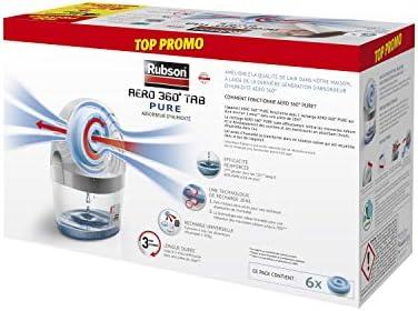 Rubson AÉRO 360° Pure 6 Recharges tabs Neutres 450 g, Recharges anti-humidité & anti-odeurs pour déshumidificateur Rubson, purificateur d'air pour lutter contre les allergies