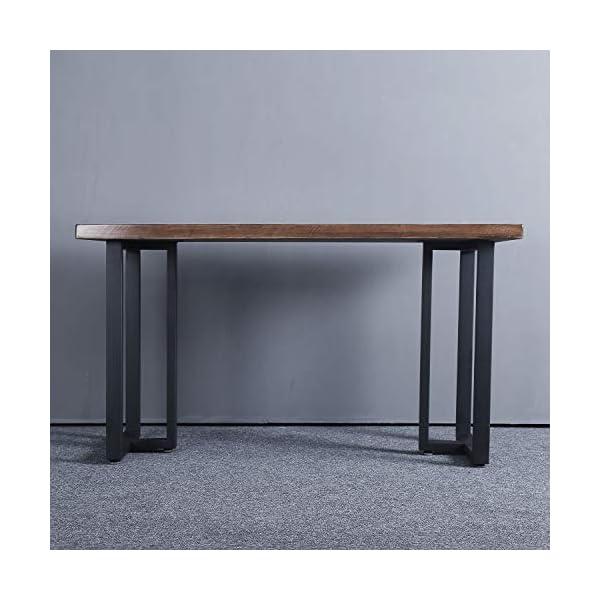 "MBQQ Furniture Legs 28""Height 17.7""Wide Rustic Decory T Shape Table Legs,Heavy Duty Metal Desk Legs,Dining Table Legs…"