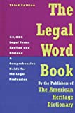 The Legal Word Book, American Heritage Dictionary Editors, 0395595215