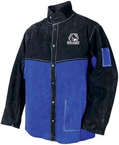 Combo Weld JKT Ctn//Leather 2XL Royal//Blk