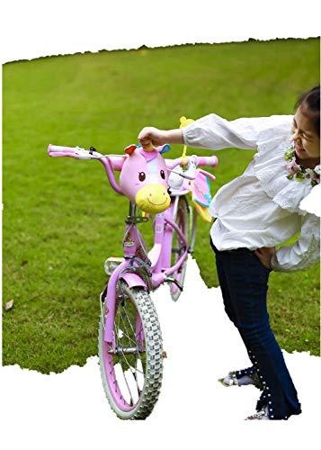 oiahwin 3D Unicorn Decoration For Kids Bike Scooter + Bike Rear Pack Kids T-Bar Kick Scooter Bike Pogo Stick Accessories