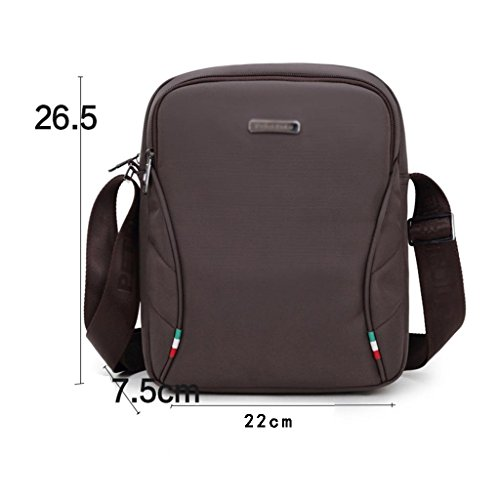 Size Messenger Phone Zcjb Men's Canvas color Male Cellular Cloth Small Bag Coffee Coffee Ipad Leisure Oxford Bags Package Shoulder Men vvwTxr