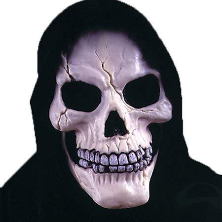 Skull with Shroud Mask Adult Halloween Accessory (4