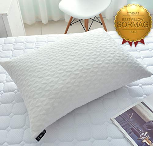 SORMAG Pillows for Sleeping, Adjustable Loft Memory Foam Pillow Hypoallergenic Bed Pillows with Washable Removable Bamboo Pillow Queen