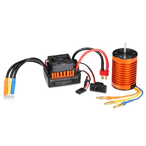 (SUKEQ F540 3000kv Waterproof Brushless Motor with 45A ESC Brushless Electric Speed Controller, set to 1 / 10 RC)