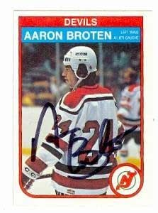 best service 46636 b56d6 Aaron Broten autographed Hockey Card (New Jersey Devils ...