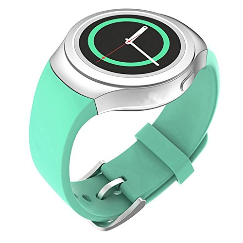 Lakvom Silicone Sport Style Watch Band for Samsung Gear S2 - Mint Green