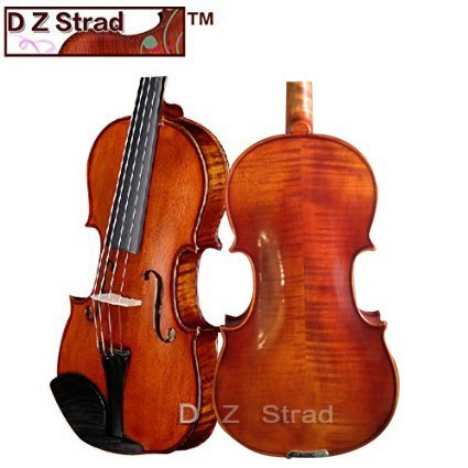 D Z Strad Violin 120 with Case Bow- 1/2 Stradivarius Factory Direct High-Grade Student Violin