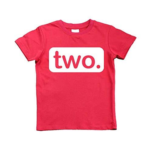 - 2nd Birthday Shirt (2y, Red)