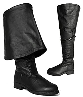 Leather Theater Medieval Over The Knee Tall Cosplay Halloween Assassin's Creed Men's Boots 11