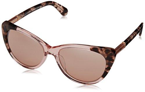 Kate Spade Women's Sherylyn/s Cateye Sunglasses, Pink Havana Pink/Pink Flash Silver, 54 - Pink Sunglasses Spade Kate