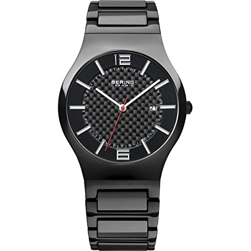 BERING Time 31739-749 Men's Ceramic Collection Watch with Ceramic Link Band and scratch resistant sapphire crystal. Designed in Denmark.