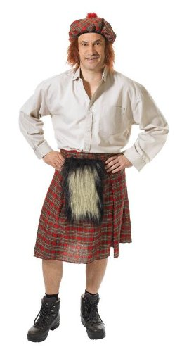 Scottish Man Kilt & Hat Set