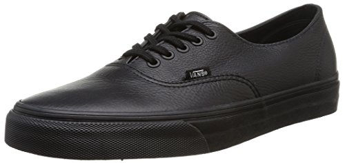 Black Bajas U Vans Authentic Negro Black Zapatillas Decon Unisex Leather 1AP8w6nq