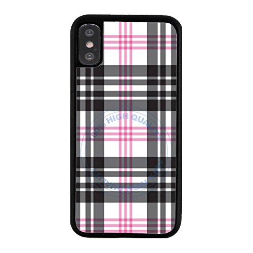 BleuReign Pink Lumberjack Buffalo Plaid Rubber Phone Case for Apple iPhone X Xs Ten