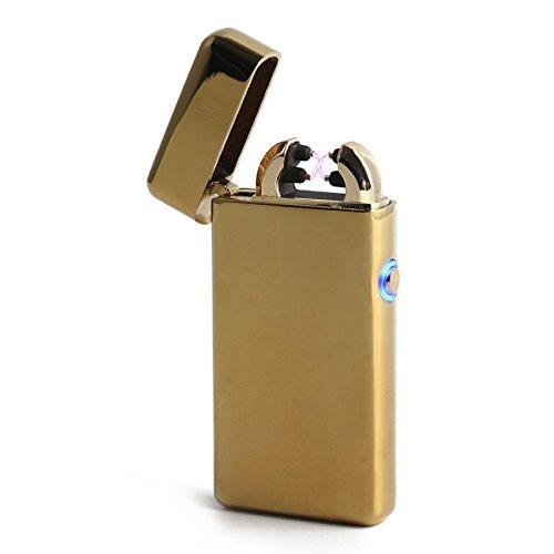 GreenSun Arc Dual Briquet Electrique Rechargeable USB Briquet Sans Flamme Sans Gaz Coupe-vent Allume-cigare Câble USB #3