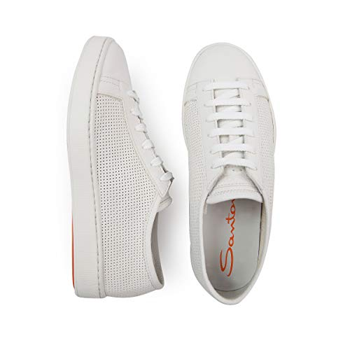 Pelle Forata In Santoni Sneakers Bianca pEXqTq