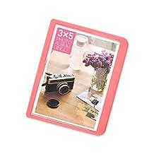 32 Pockets Colorful Fuji Wide Instant Mini Book Photo Album for Fujifilm Instax WIDE 210 Films, Fujifilm Instax WIDE 200 Films, Fujifilm Instax Wide 300 Films, Fujifilm FP100C, Fujifilm FP 3000B - Pink